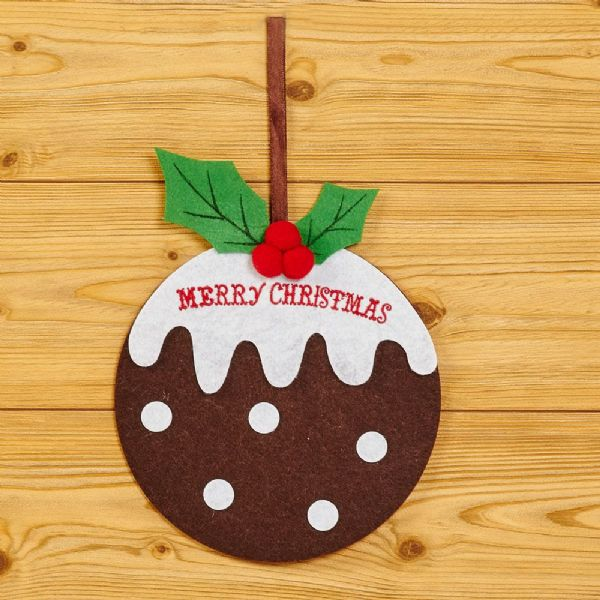 Christmas Pudding Felt Decoration